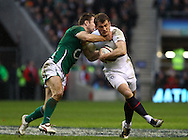 'Twickenham - Saturday, February 27th, 2010: Mark Cueto of England  is tackled by Thomas O'Leary of Ireland during the RBS Six Nations match between England and Ireland at Twickenham. (Pic by Andrew Tobin/Focus Images)