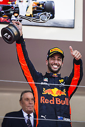 May 28, 2017 - Monte-Carlo, Monaco - 03 RICCIARDO Daniel from Australia of Red Bull Tag Heuer RB13 celebrating the podium during the Monaco Grand Prix of the FIA Formula 1 championship, at Monaco on 28th of 2017. (Credit Image: © Xavier Bonilla/NurPhoto via ZUMA Press)