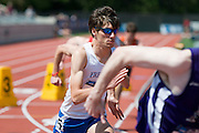 2011/05/28 - SUNY Fredonia's Nick Guarino competes in the 800-meter final at the 2011 NCAA Division-3 Championships. Guarino won in 1:49.89, having already won the 1500-meter run in 3:53.43, just eighty minutes earlier. Guarino was the first Division-3 runner to win both events since Nick Symmonds in 2006.