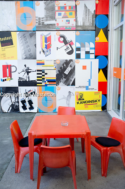 Cafe at Bauhaus Archiv in Berlin Germany