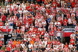 21-09-2019 NED: EC Volleyball 2019 Poland - Spain, Apeldoorn<br /> 1/8 final EC Volleyball / Poland support, fan