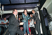 KEVIN SPACEY; MERCEDES RUEHL; JEFF GOLDBLUM; , The Old Vic at the Vaudeville Theatre ' The Prisoner of Second Avenue'  press night. After-party at Jewel. 13 July 2010. -DO NOT ARCHIVE-© Copyright Photograph by Dafydd Jones. 248 Clapham Rd. London SW9 0PZ. Tel 0207 820 0771. www.dafjones.com.