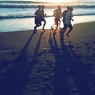 Runners on Venice Beach