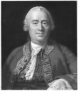 David Hume (1771-1776) Scottish philosopher and historian. Portrait engraving.