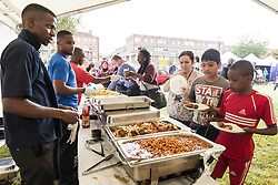 The opening of the Grange Community Hub, Haringey and High Road West consultation with Fun Day. Tottenham London Sep 2014. UK