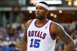 March 9, 2011; Sacramento, CA, USA;  Sacramento Kings power forward DeMarcus Cousins (15) before a free throw against the Orlando Magic during the first quarter at the Power Balance Pavilion. Orlando defeated Sacramento 106-102.