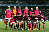 FOOTBALL - UEFA CHAMPIONS LEAGUE 2011/2012 - 1/8 FINAL - 1ST LEG - OLYMPIQUE LYONNAIS v APOEL FC - 14/02/2012 - PHOTO EDDY LEMAISTRE / DPPI - TEAM LYON ( BACK ROW LEFT TO RIGHT: CRIS / HUGO LLORIS / BAKARY KONE / KIM KALLSTROM / LISANDRO LOPEZ / ANTHONY REVEILLERE. FRONT ROW: MAXIME GONALONS / EDERSON / MICHEL BASTOS / ALEXANDRE LACAZETTE / ALY CISSOKHO )