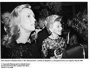 Patty Raynes & Barbara Davis  (  Mrs. Marvin Davis) mother & daughter ). L'Orangerie Party. Los Angeles. March 1990<br /><br />© Copyright Photograph by Dafydd Jones<br />66 Stockwell Park Rd. London SW9 0DA<br />Tel 0171 733 0108<br />Film 90209/28