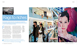 "British Council publication ""Postgraduate UK""; Shopping mall in China"