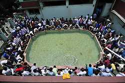 June 23, 2017 - Kathmandu, NE, Nepal - Nepalese Muslim washes their hands, face and feet before praying last Friday of Ramadan's Ritual Prayer at Nepali Jame mosque at Kathmandu, Nepal on Friday, June 23, 2017. Ramadan (also known as Ramadhan or Ramzan) is the ninth month in the Islamic calendar. During the month of Ramadan, Muslims fast from dawn to dusk all over the world. While fasting from dawn until sunset, Muslims avoid from consuming food, drinking liquids, smoking, and engaging in sexual relations. (Credit Image: © Narayan Maharjan/NurPhoto via ZUMA Press)