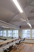 hair salon shot for Deltalight lighting designers