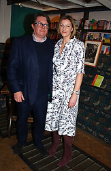 ROSE PRINCE and her husband DOMINIC PRINCE at a party to celebrate the publication of The new English Kitchen - Changing the Way You Shop, Cook and Eat by Rose Prince held at the Daunt Bookshop, 83 Marylebon High Street, London on 10th March 2005.<br />