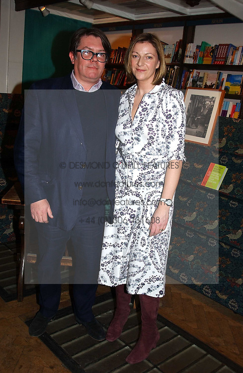 ROSE PRINCE and her husband DOMINIC PRINCE at a party to celebrate the publication of The new English Kitchen - Changing the Way You Shop, Cook and Eat by Rose Prince held at the Daunt Bookshop, 83 Marylebon High Street, London on 10th March 2005.<br /><br />NON EXCLUSIVE - WORLD RIGHTS