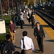 October 17, 2014 - Westwood, N.J. : Democrat Roy Cho, center right, campaigns at the Westwood NJ Transit station on Friday morning. A candidate for Congress from NJ's 5th District, Cho is challenging Rep. Scott Garrett in the upcoming November elections. CREDIT: Karsten Moran for The New York Times