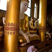 Myanmar (Burma). Yangon. Shwedagon pagoda .