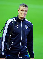 LIVERPOOL, ENGLAND - Boxing Day, Saturday, December 26, 2015: Leicester City's Robert Huth arrives at Anfield before the Premier League match against Liverpool. (Pic by David Rawcliffe/Propaganda)