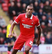 Leyton Orient striker Jay Simpson during the Sky Bet League 2 match between Leyton Orient and Oxford United at the Matchroom Stadium, London, England on 17 October 2015. Photo by Bennett Dean.