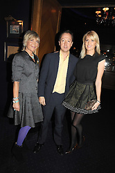 Left to right, ROSIE, MARCHIONESS OF NORTHAMPTON, GEORDIE GREIG and LADY EMILY COMPTON at the Tatler Magazine Little Black Book party at Tramp, 40 Jermyn Street, London SW1 on 5th November 2008.