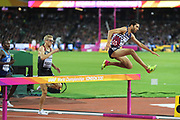 Mahiedine Mekhissi, France during  3000m steeple chase at the World Championships 080817 at the London Stadium, London, England on 8 August 2017. Photo by Myriam Cawston.