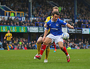 Portsmouth striker Matt Tubbs during the Sky Bet League 2 match between Portsmouth and Shrewsbury Town at Fratton Park, Portsmouth, England on 28 March 2015. Photo by Phil Duncan.