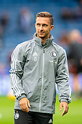 Dominik Nagy (#21) of Legia Warsaw warms up before the Europa League Play Off leg 2 of 2 match between Rangers FC and Legia Warsaw at Ibrox Stadium, Glasgow, Scotland on 29 August 2019.