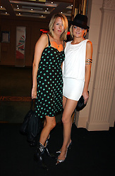 Left to right, the HON.FLORA HESKETH and LADY ELOISE ANSON at a party to celebrate 'Made in Italy at Harrods' - a celebration of Italian fashion food and wine, design and interiors, art and photography, cinema and music, beauty and glamour.  The party was held in the Georgian Restaurant at Harrods, Knightsbridge, London on 9th September 2004.<br />
