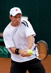 Gregor Zemlja at 2nd Round of 2nd Euroafrican group of Davis cup tennis match between Slovenia and Lithuania, on July 10 2009, in Otocec, Novo mesto, Slovenia. (Photo by Vid Ponikvar / Sportida)