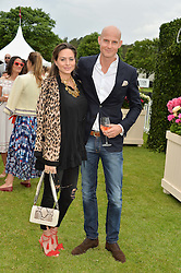 GUNNAR & SASKIA WINBERGH at the Cartier Queen's Cup Final 2016 held at Guards Polo Club, Smiths Lawn, Windsor Great Park, Egham, Surry on 11th June 2016.