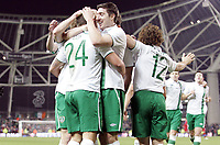 Football - International Friendly - Republic Of Ireland vs. Czech Republic<br /> <br /> Simon Cox celebrates with team mates after scoring the equalizing goal for Ireland, at Aviva Stadium, Dublin.