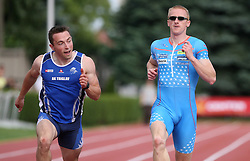 Jurij Demsar and Matic Osovnikar at Athletic National Championship of Slovenia, on July 20, 2008, in Stadium Poljane, Maribor, Slovenia. (Photo by Vid Ponikvar / Sportal Images).