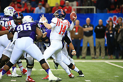 Photos from the Chick-Fil-A Peach Bowl game between Ole Miss and TCU at the Georgia Dome on Wednesday, December 31, 2014, in Atlanta, GA. (Daniel Shirey/Abell Images for Chick-fil-A Peach Bowl)