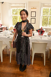 HANNAH TAN at a lunch to promote the jewellery created by Luis Miguel Howard held at Morton's, Berkeley Square, London on 20th October 2016.