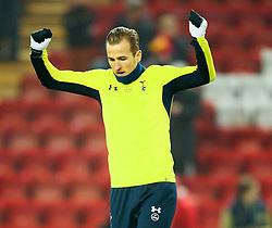 Tottenham Hotspur's Harry Kane warms up - Photo mandatory by-line: Matt McNulty/JMP - Mobile: 07966 386802 - 10/02/2015 - SPORT - Football - Liverpool - Anfield - Liverpool v Tottenham Hotspur - Barclays Premier League