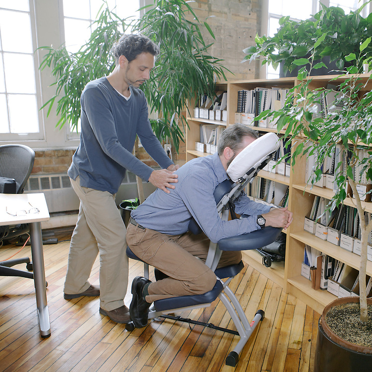 On-location office chair shiatsu massage with Ian Elliott