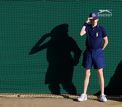 LONDON, ENGLAND - Wednesday, July 2, 2008: A ball-boy during the men's singles quarter-final match on day nine of the Wimbledon Lawn Tennis Championships at the All England Lawn Tennis and Croquet Club. (Photo by David Rawcliffe/Propaganda)