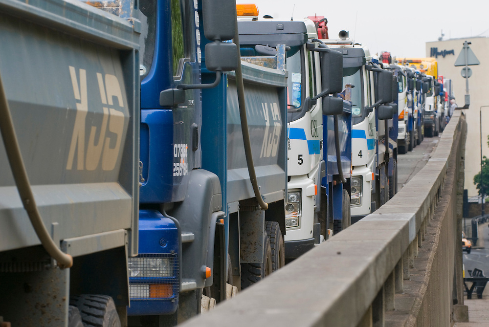 London, England May 27th  Hundreds of lorry drivers from all over the country are on their way to central London to protest against the rising cost of fuel.