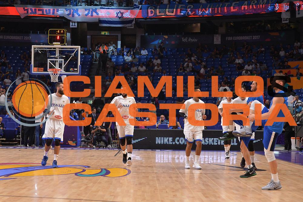 Luigi Datome, Marco Belinelli , Daniel Hackett<br /> Nazionale Italiana Maschile Senior<br /> Eurobasket 2017 - Group Phase<br />  Italia Israele Italy Israel<br /> FIP 2017<br /> Tel Aviv, 31/08/2017<br /> Foto Ciamillo - Castoria/ M.Longo