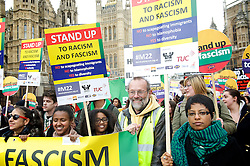 Stand up to Racism and Fascism Rally  from Westminster to Trafalgar Square. Rally and speeches in Trafalgar Square including speeches by  Diane Abbott, MP.London, United Kingdom. Saturday, 22nd March 2014. Picture by Elliott Franks / i-Images
