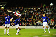 London - Tuesday, 21st September, 2010: Gary Alexander of Brentford   scores the equalising goal during the Carling Cup 3rd Round match at Griffin Park, London...Pic by: Alex Broadway/Focus Images