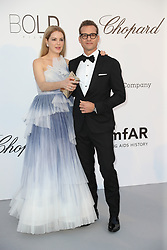 Jacinda Barrett and Gabriel Macht arrive at the amfAR Gala Cannes 2018 at Hotel du Cap-Eden-Roc on May 17, 2018 in Cap d'Antibes, France Photo by Shootpix/ABACAPRESS.COM