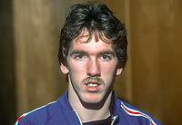 Martin McGaughey, footballer, Linfield, FC, Belfast, N Ireland, January, 1982, 198201000004MMG<br /> <br /> Copyright Image from Victor Patterson, 54 Dorchester Park, Belfast, UK, BT9 6RJ<br /> <br /> Tel: +44 28 9066 1296<br /> Mob: +44 7802 353836<br /> Voicemail +44 20 8816 7153<br /> Skype: victorpattersonbelfast<br /> Email: victorpatterson@me.com<br /> Email: victor@victorpatterson.com<br /> <br /> IMPORTANT: If you wish to use this image or any other of my images please go to www.victorpatterson.com and click on the Terms & Conditions. Then contact me by email or phone with the reference number(s) of the image(s) concerned.