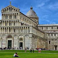 Pisa Cathedral and Leaning Tower of Pisa in Pisa, Italy<br />