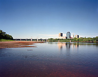 Skyline from Connecticut River in summer, Springfield, MA