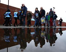 Aston Villa fans arrive at Villa Park - Mandatory by-line: Robbie Stephenson/JMP - 13/04/2018 - FOOTBALL - Villa Park - Birmingham, England - Aston Villa v Leeds United - Sky Bet Championship