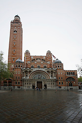 UK ENGLAND LONDON 5MAY12 - Exterior view of the Westminster Cathedral in Victoria, central London. The De Brecy Tondo artwork, suspected to be by Reniassance painter Rafael is on display at the Westminster Cathedral in central London.....jre/Photo by Jiri Rezac....© Jiri Rezac 2012