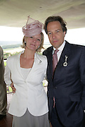 The Earl and Countess of March, Glorious Goodwood. 2 August 2007.  -DO NOT ARCHIVE-© Copyright Photograph by Dafydd Jones. 248 Clapham Rd. London SW9 0PZ. Tel 0207 820 0771. www.dafjones.com.
