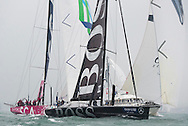 Image licensed to Lloyd Images - Free for editorial use<br /> The 2015 Artemis Challenge as part of Aberdeen Asset Management Cowes Week 2015. Cowes. Isle of Wight. Pictures of HUGO BOSS leads Team SCA across the start line for the 2015 Artemis Challenge Credit: Lloyd Images