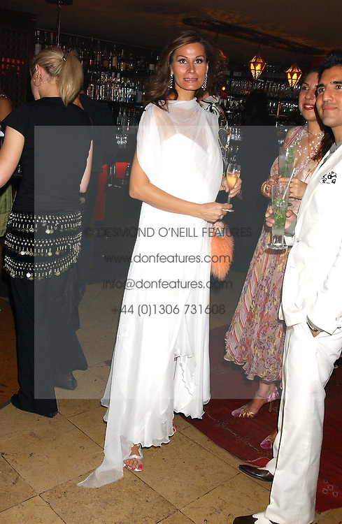 Designer ISABELL KRISTENSEN at a dinner hosted by Ayesha Makim and leading stylist Mohieb Dahabieh to celebrate the forthcoming London Fashion Week held at the exotic restaurant Levant, 76 Wigmore Street, London W1 on 8th September 2005.<br /><br />NON EXCLUSIVE - WORLD RIGHTS