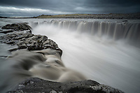 Selfoss waterfall. The falls are in the river Jökulsá á Fjöllum in Northeast Iceland.