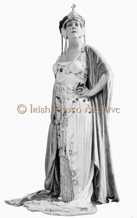 Louise Edvina (1880-1940) Canadian soprano in title role of the courtesan in Massenet's opera 'Thais', a role she played in the London premier at Covent Garden in 1911.